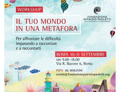 """Workshop: """"Il tuo mondo in una metafora"""". Iscriviti online!"""